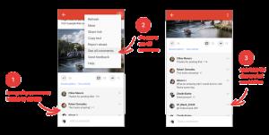 Ocultar comentarios Google+