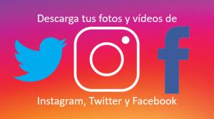 Descargar fotos y videos Instagram