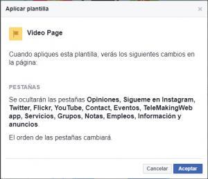 Cambiar plantilla en Facebook