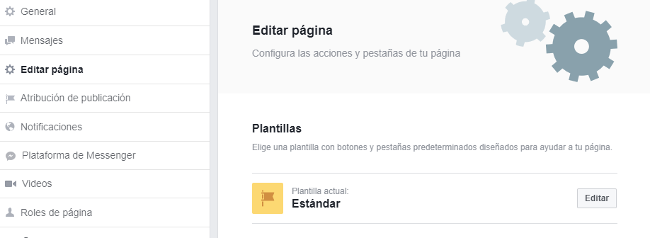 Plantillas páginas Facebook
