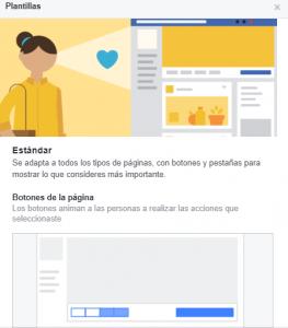Plantilla páginas Facebook