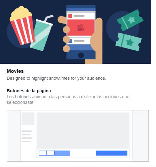 Plantillas Facebook Cine