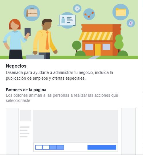 Plantilla Facebook Negocios