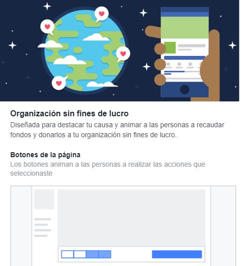 Plantillas Facebook Organizacions sin ánimo de lucro