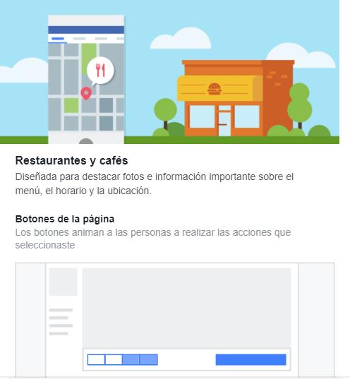 Plantilla para páginas Facebook