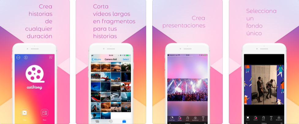 Cortar vídeos aplicación