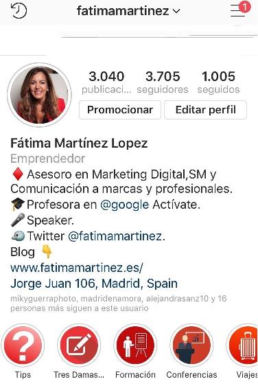 Instagram Fatima Martinez