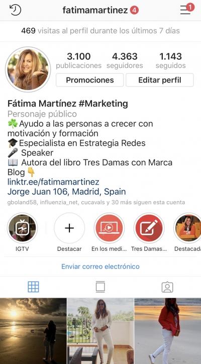 Compartir varios enlaces Instagram