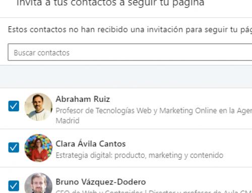 Linkedin ya permite invitar a todos tus contactos a seguir tu página de empresa