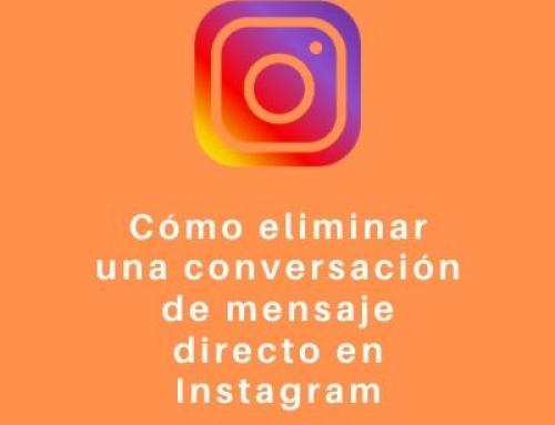 Cómo eliminar una conversación de mensaje directo en Instagram