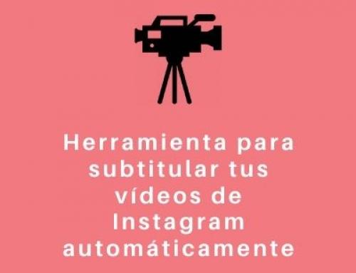 Herramienta para subtitular vídeos de Instagram