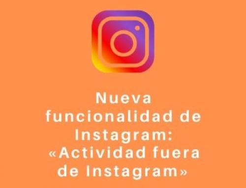 Nueva funcionalidad de Instagram: «Actividad fuera de Instagram»