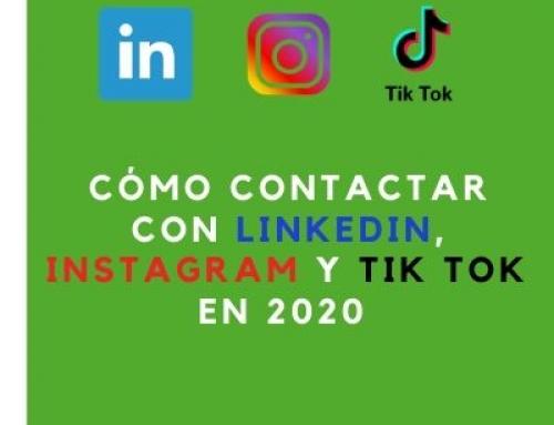 Cómo contactar con Instagram, Facebook, Twitter Linkedin, o Tik Tok en 2020