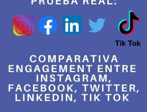 Prueba real: comparativa engagement de Instagram, Facebook,Twitter, Linkedin y Tik Tok