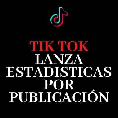 Tik Tok estadisticas por video