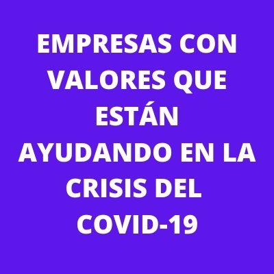 EMPRESAS DONACIONES COVID 19