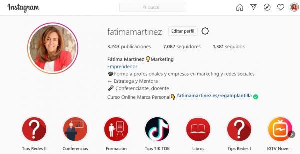Mensajes directos instagram web