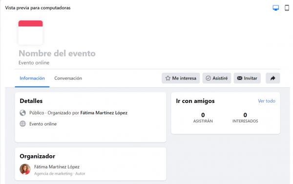 Eventos Online de pago Facebook