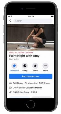 cómo hacer eventos online de pago en Facebook