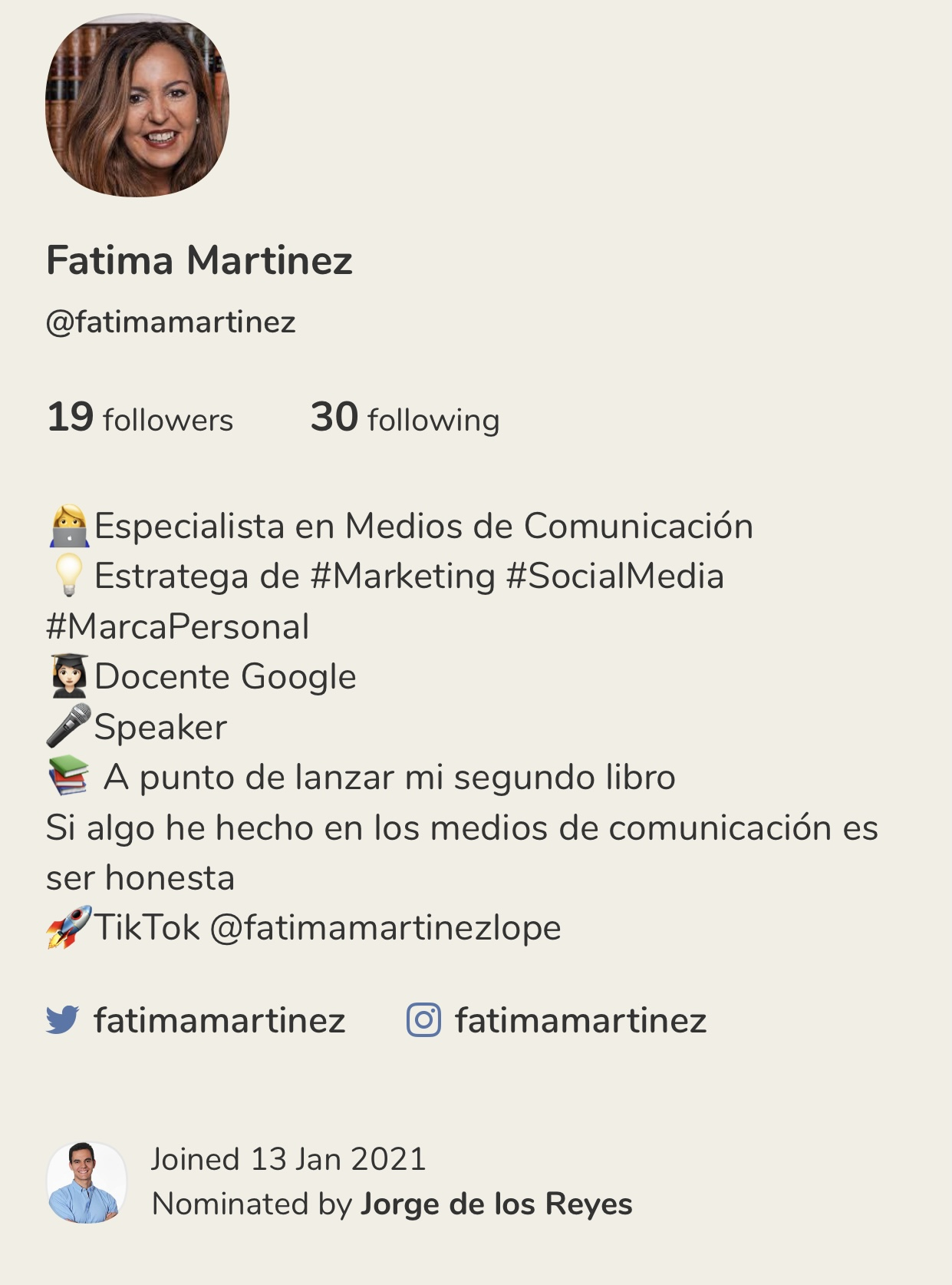 Clubhouse Fatima Martinez