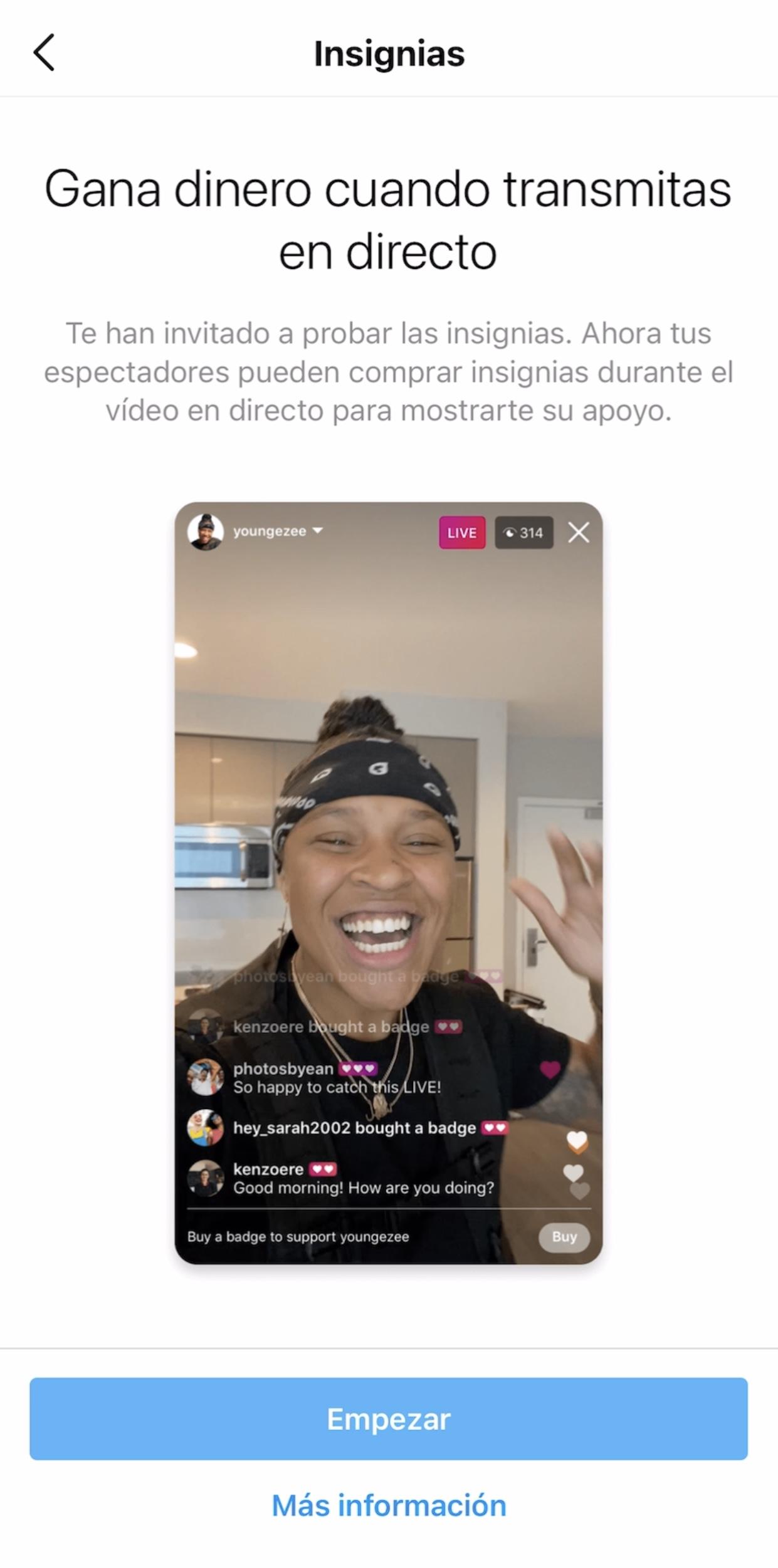 Monetizar live instagram
