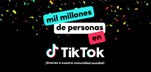 TikTok supera 1.000 millones usuarios